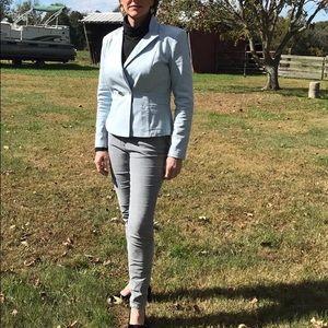 Cabi baby blue stretch blazer, size 4.